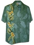 444-3970 Sage Pacific Legend Men's Single Panel Hawaiian Shirts