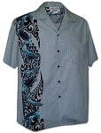 444-3972 Slate Pacific Legend Men's Single Panel Hawaiian Shirts