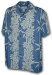 470-105 Slate Paradise Motion Men's Rayon Hawaiian Shirts