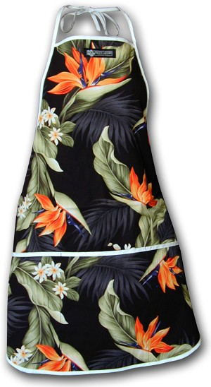 948-3470 Black Pacific Legend Aloha Apron